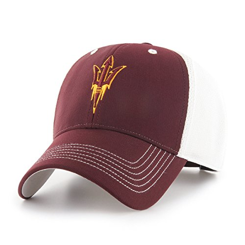 Arizona State Sun Devils Visor - OTS NCAA Arizona State Sun Devils Sling All-Star MVP Adjustable Hat, Dark Maroon, One Size