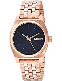 Nixon Women's 'Medium Time Teller' Quartz Stainless Steel Casual Watch, Color:Rose Gold-Toned (Model: A11302763)