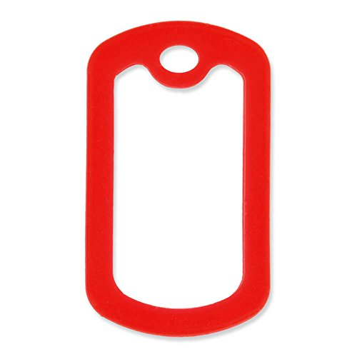 - PinMart 5 Pack Military Style Dog Tag Silicone Silencer - Red