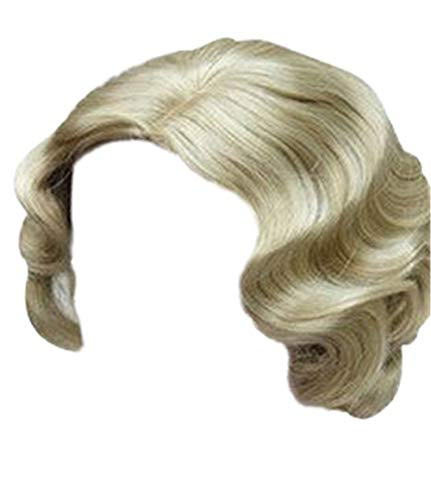No Budget Halloween Costumes (ROLECOS Sexy Flapper Wigs Short Wavy Marilyn Monroe Costume Wig Halloween Cosplay)