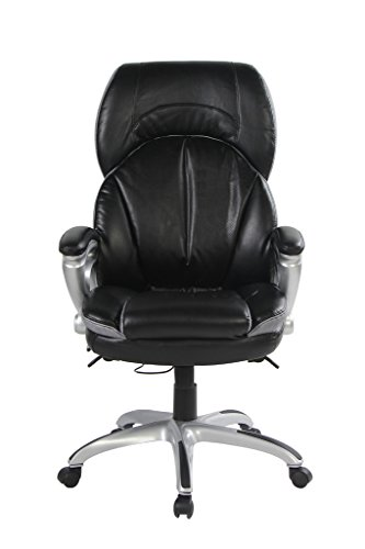 VIVA OFFICE High Back Double Padded Bonded Leather Office Chair with Soft Spring Pack Padding