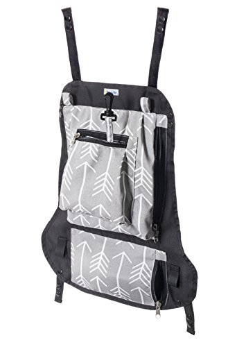 Attachable Diaper Bag: Snaps on Baby Carriers, and Strollers for Hands Free Parenting for Active Families (Arrows) by Attachable Diaper Bag by k'Boodle