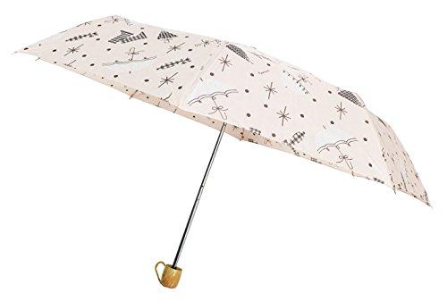 Cheap Compact Umbrella, Folding Umbrella, Mini Umbrella, Pocket Size Umbrella (Cream)