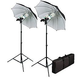 Cowboystudio 1200 Watt Photography, Video, and Portrait Studio Umbrella Continuous Lighting Kit