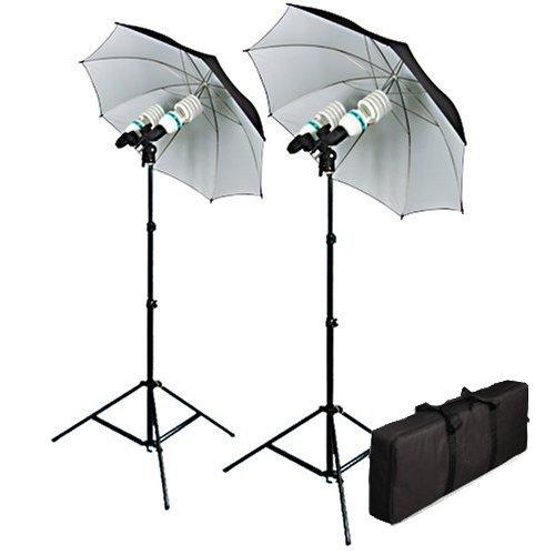 Cowboystudio 1200 Watt Photography, Video, and Portrait Studio Umbrella Continuous Lighting Kit by CowboyStudio