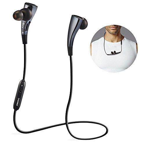 ANKOVO Bluetooth 4.1 Kopfhörer Drahtlose Kopfhörer Magnet drahtlose Sport-Stereo In-Ear-Kopfhörer mit Geräuschunterdrückung Kopfhörer-Kopfhörer Earbuds Schnurloses Bluetooth-Kopfhörer mit mit magnetischen Kreis-Entwurf für iPhone 6S 6 Plus 5 Samsung S6 S5 - (Marine-Blau)