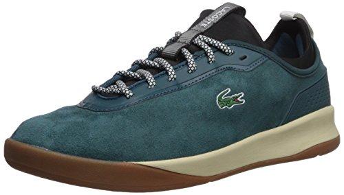 Lacoste Men's Lt Spirit 2.0 417 1 Sneaker, Dark Green/Black, 9.5 M US