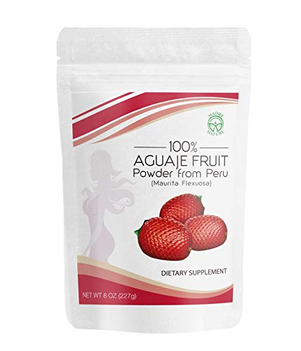 Madre Nature - Aguaje Fruit Powder 8 oz Value Pack - Perfect for Smoothies - Non-GMO - Wild Harvested in Peru