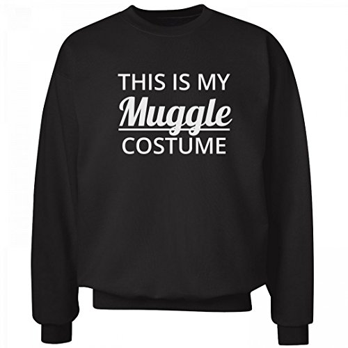 This Is My Muggle Costume Black: Unisex Hanes Ultimate Crewneck (Good Halloween Costume Ideas For College Males)