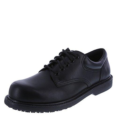 safeTstep Slip Resistant Men's Black Men's Manager Oxford 11.5 Regular