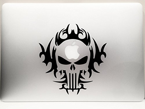 Skull punisher tribal decal vinyl car wall laptop cellphone sticker from leon online box