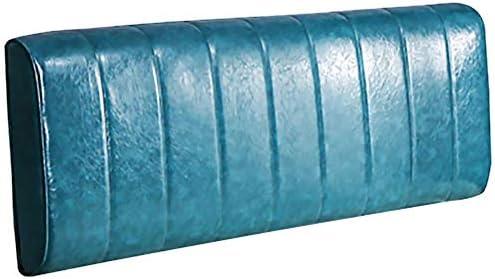 WZBヘッドボードベッドサイドクッションシンプルで 耐摩耗性スポンジ充填により、読みやすいウエストをサポート、4色、4サイズ(色:青、サイズ:150x10x60CM)