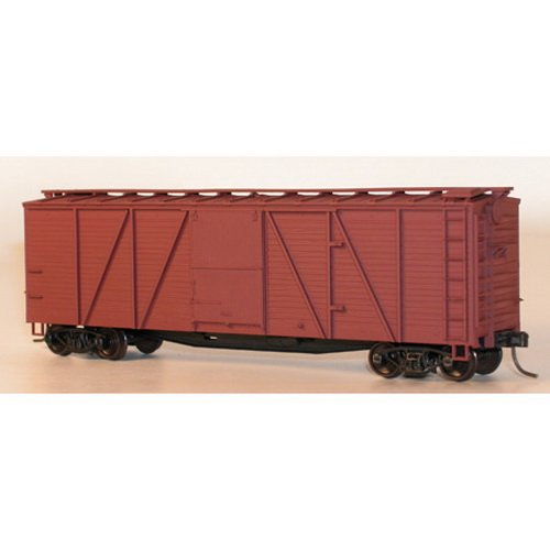 Accurail 7200 Undecorated 40' Single-Sheathed Wood Boxcar Kit ()
