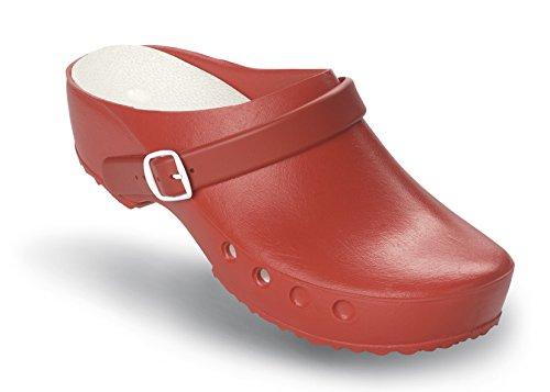 Schürr mit Chiroclogs Rot Fersenriemen Schuhe mit Classic ohne und OP Fersenriemen gqFrwg