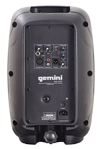 Gemini AS Series AS-08P Professional Audio 8-inch Portable Active PA Loudspeaker with Equalizer Mix...