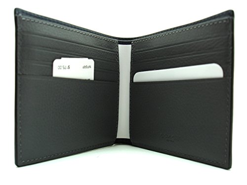 WALLET COACH CROSSGRAIN IN COMPACT COACH COMPACT GRAY LEATHER IN WALLET 175 RBHwd44qx