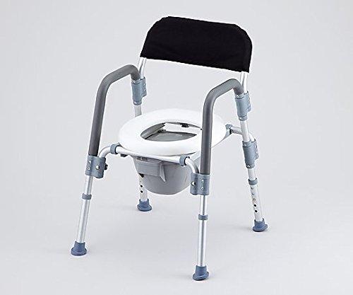 8-4957-02コンフォートトイレ椅子(折りたたみ式)背付き B07BDP4BFV