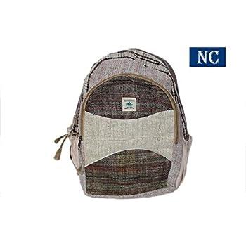 Himalayan 100% Hemp Backpack with Laptop Sleeve - Handmade In Nepal