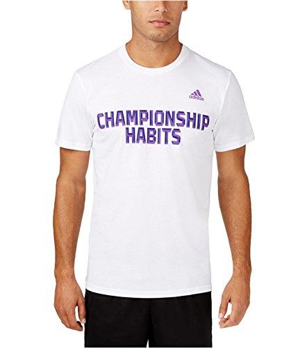 adidas Performance Men's Champion Habits Graphic Tee, XX-Large, White