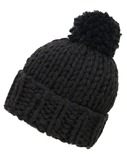 Arctic Paw Women's Super Soft Chunky Cable Knit Pompom Beanie (Chunky Cable Knit Hat)