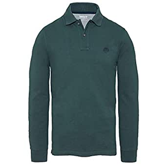 Timberland Millers River Polo Shirt Green Mens A1SMEE20: Amazon ...
