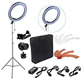 FidgetFidget Light Kit for DSLR Camera 240pcs LED 5500K 18'' Dimmable Photography Photo Ring