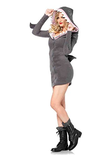 Cozy Shark Adult Costumes (Cozy Shark Costume Bundle with Pink Shorts)