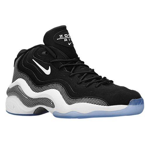 Nike Mens Air Zoom Flight 96 Basketball Shoes Black/White 317980-002 Size 10