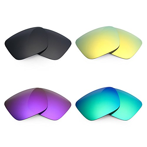 Mryok 4 Pair Polarized Replacement Lenses for Spy Optic Helm Sunglass - Black IR/24K Gold/Plasma Purple/Emerald - Lenses Helm Spy