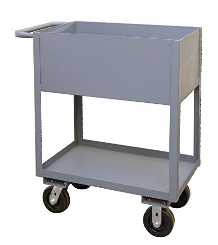 Durham RSC12-1830-2-95 2 Shelf Stock Cart with Lips Up, 12