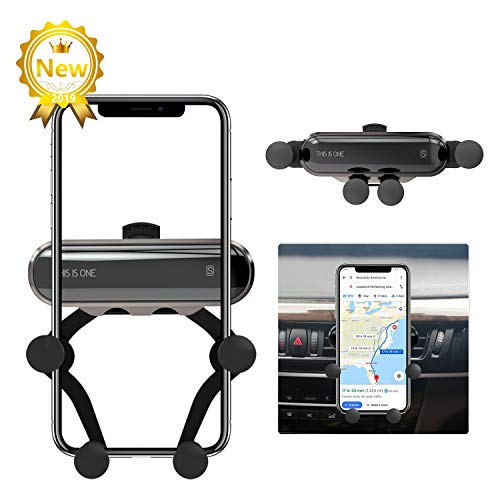 - Car Phone Holder, ICHECKEY Air Vent Cell Phone Car Mount Support Auto-Retractable Automatic Locking Clip Holder Universal for Smartphone 4.7
