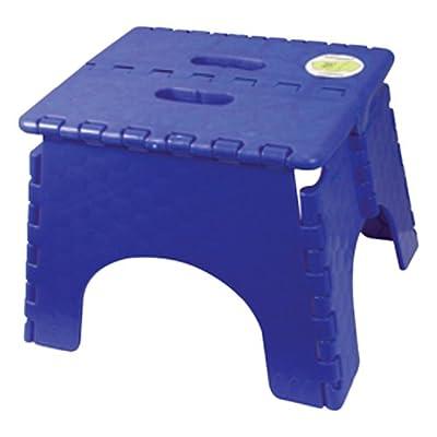 "B&R Plastics 101-6SB E-Z Foldz Step Stool - 9"", Sapphire Blue: Automotive"