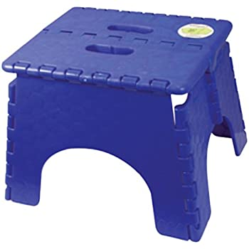 Amazon.com: B&R Plastics EZ - Taburete plegable (22,8 y 12.0 ...