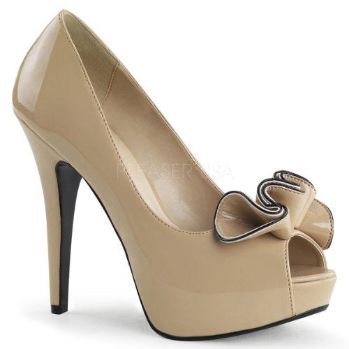 Pleaser Shoes Usa Lolita 10 Beige 5xxZ8Bwq