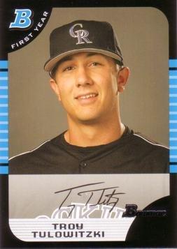 2005 Bowman Draft Picks Baseball #BDP105 Troy Tulowitzki Rookie Card