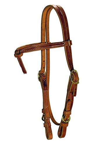 Amish USA Horse Tack Hermann Oak Leather Knotted Browband 975H202 ()