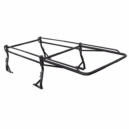 (AA-Racks Model X39 Full-size Truck Ladder Rack Side Bar with Long Cab Ext.-Matte Black)