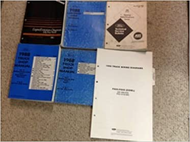 1988 ford f, b, c 600-8000 medium and heavy truck repair shop manual set:  ford: amazon com: books