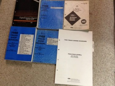 1988 Ford F, B, C 600-8000 Medium and Heavy Truck Repair Shop Manual Set