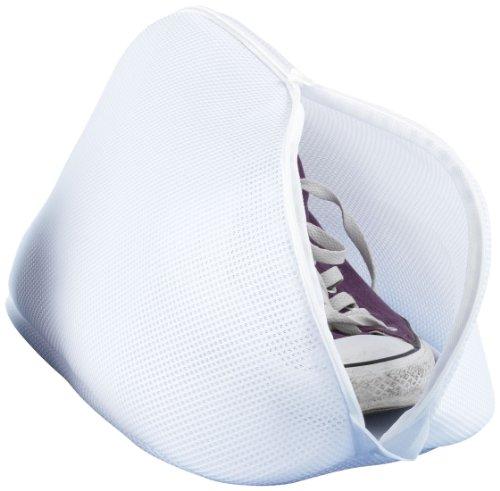 WENKO 73722100 Schuh-Wäschenetz - mit Reißverschluss, 100 % Polyester, 40 x 23 x 23 cm, Weiß