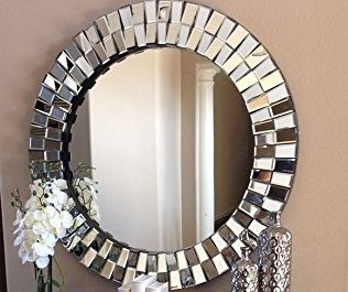 Buy Venetian Image Elegant Modern Decorative Wall Mounted Round Mirror For Home Decor 30x30 Inches By Venetian Image Online At Low Prices In India Amazon In