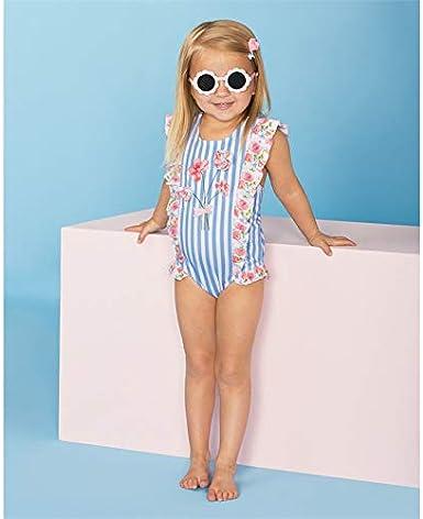 Infant Kid Baby Girls Ice Cream Swimsuit Ruffled Striped Swimwear One-Piece Swimming Bikini Bathing Suit 6M-4Y