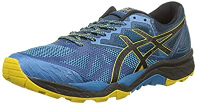 Asics Gel-Fujitrabuco 6, Zapatillas de Trail Running para Hombre, Multicolor (Turkish Tile/Black/Lemon Curry 4690), 40 EU