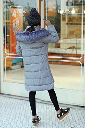 Le Bas Femme Quilté Air Grau Plein En Manteaux Jeunes Élégant Longue Veste En Manteau Mode Épaissir Veste À Chaud D'hiver Vers Capuche Vestes Manche Manteau 8wq5cUzc