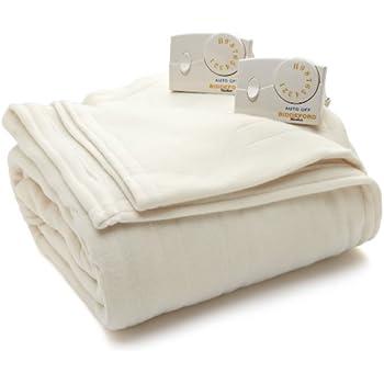 Biddeford Blankets Comfort Knit Heated Blanket, Queen, Natural