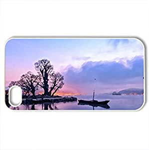 Beautiful View - Case Cover for iPhone 4 and 4s (Sky Series, Watercolor style, White)