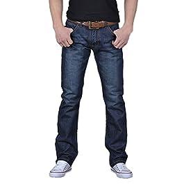 Men's  Casual Autumn Denim Cotton Hip Hop Loose Work Long  Jeans Pants