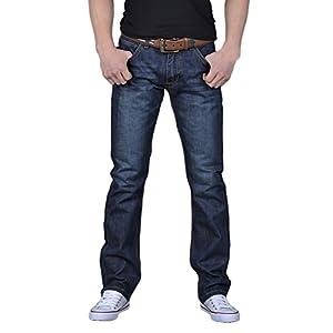 FarJing Pants Men's Boys Casual Autumn Denim Cotton Hip Hop Loose Work Long Trousers Jeans Pants
