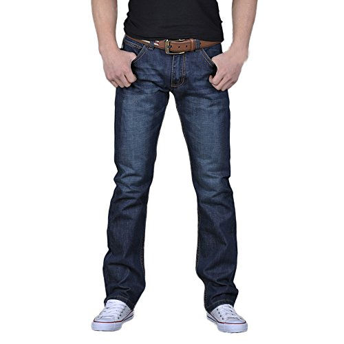 FarJing Pants Clearance Sale Men's Boys Casual Autumn Denim Cotton Hip Hop Loose Work Long Trousers Jeans Pants(Size:38,Blue  ()