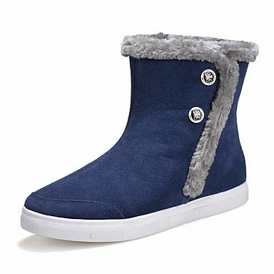 Botas de mujeres PU Confort Casual Primavera Azul gris plana negra Gray